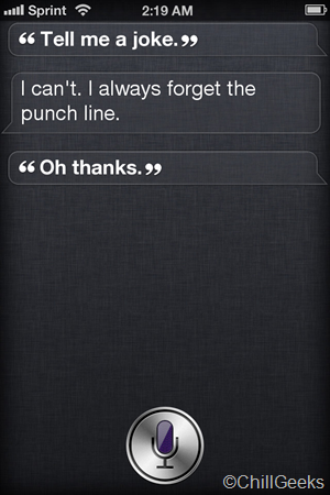 Fake SIRI Conversation