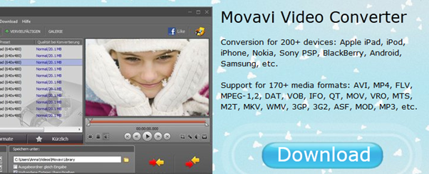 Convert all video files with movavi