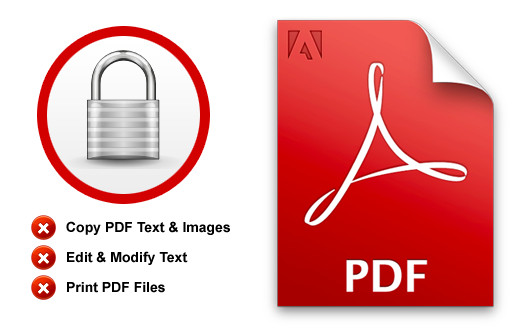 Unlocking a secured PDF file